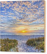 Clouds At Dawn Wood Print