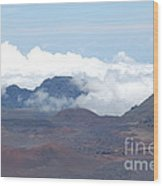 Clouds At Haleakala Wood Print