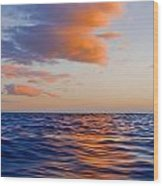 Clouds At Sunset - Racing Across The Water At Sunset Wood Print