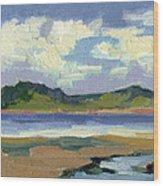 Clouds At Vashon Island Wood Print