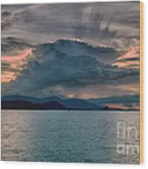 Clouds Explosion Wood Print