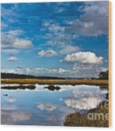 Clouds Flying Clouds Floating Wood Print