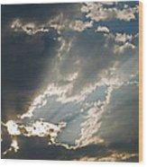 Clouds I Wood Print