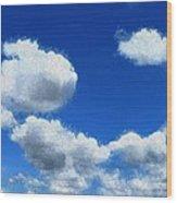 Clouds In A Blue Sky Wood Print