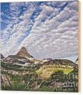 Clouds In Glacier Wood Print