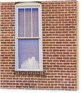 Clouds In My Window Wood Print