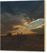 Clouds In New Mexico Wood Print