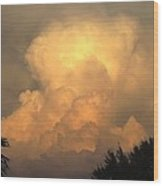 Clouds In The Evening II Wood Print