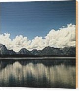 Clouds In The Grand Tetons Wood Print