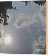 Clouds In The River Wood Print