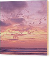 Clouds In The Sky At Sunset, Pacific Wood Print