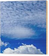 Layers Of Clouds Wood Print
