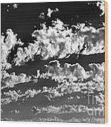 Clouds Of Freycinet Bw Wood Print