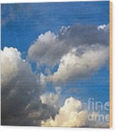 Clouds Of Today Wood Print