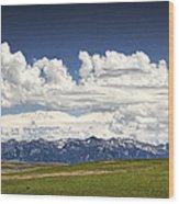 Clouds Over A Mountain Range In Montana Wood Print