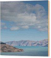 Clouds Over Akaroa Harbor, Akaroa Wood Print