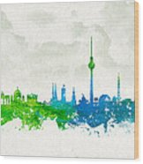 Clouds Over Berlin Germany Wood Print by Aged Pixel