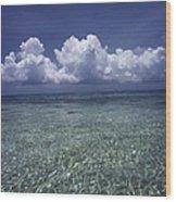 Clouds Over Bora Bora Wood Print