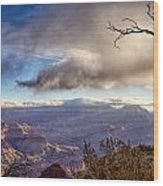 Clouds Over Canyon Wood Print by Lisa  Spencer