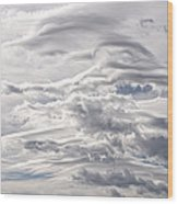 Clouds Over Caughlin Ranch Wood Print