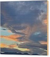 Clouds Over Colorado Wood Print