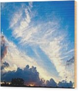 Clouds Over Comfort Wood Print