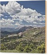 Clouds Over Crested Butte Wood Print