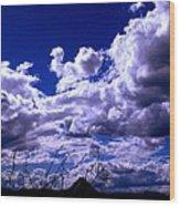 Clouds Over Gavilan Peak Wood Print