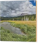 Clouds Over Hat Lake Wood Print