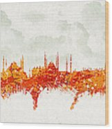 Clouds Over Istanbul Turkey Wood Print by Aged Pixel