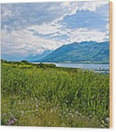 Clouds Over Jackson Lake In Grand Teton National Park-wyoming Wood Print