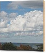 Clouds Over Lake Michigan Wood Print