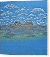 Clouds Over Lassen Wood Print