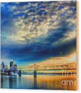 Clouds Over Louisville Wood Print