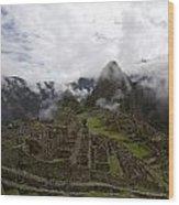 Clouds Over Machu Picchu Wood Print