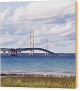 Clouds Over Mackinaw Wood Print