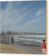 Clouds Over Manly Beach Wood Print
