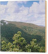 Clouds Over Mountain, Sunset Rock Wood Print