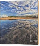 Clouds Over Narrabeen Lake Wood Print