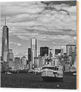 Clouds Over New York Wood Print
