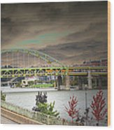 Clouds Over Pittsburgh Wood Print