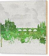 Clouds Over Prague Czech Republic Wood Print by Aged Pixel