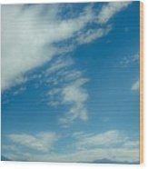 Clouds Over Priest Lake Wood Print