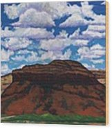 Clouds Over Red Mesa Wood Print
