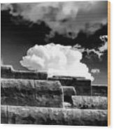 Clouds Over Santa Fe Wood Print
