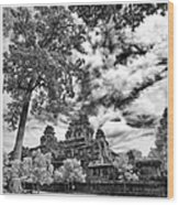 Clouds Over Temple In Siem Reap In Cambodia Wood Print