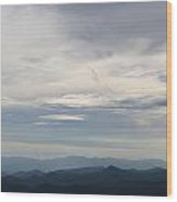Clouds Over The Appalachians Wood Print