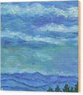 Clouds Over The Blue Ridge Wood Print
