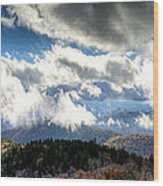 Clouds Over The Blue Ridge Mountains Wood Print