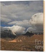 Clouds Over The Organ Mountains Wood Print